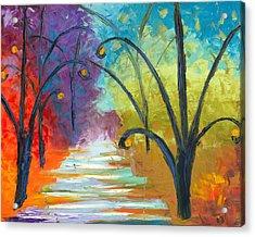 Rainbow Road Acrylic Print by Jessilyn Park