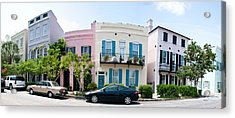 Rainbow Row Colorful Houses Acrylic Print by Panoramic Images