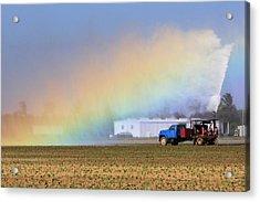 Rainbow Acrylic Print by Rudy Umans