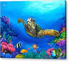 Rainbow Reef Acrylic Print by Kathleen Kelly Thompson