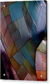 Rainbow Shingles Acrylic Print