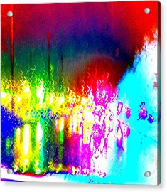 Rainbow Splash Abstract Acrylic Print