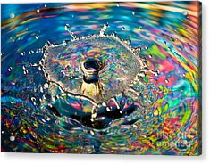 Rainbow Splash Acrylic Print