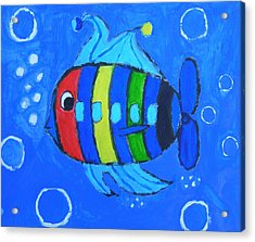 Rainbow Submarine Fish Acrylic Print