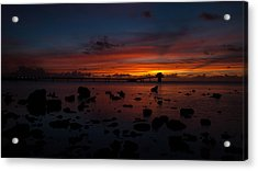 Rainbow Sunset Acrylic Print by Brian Governale