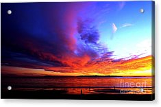 Acrylic Print featuring the photograph Rainbow Sunset by Sue Halstenberg