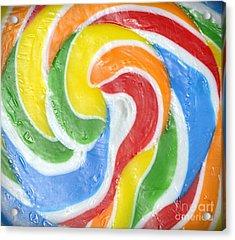 Rainbow Swirl Acrylic Print by Luke Moore