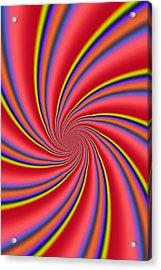 Rainbow Swirls Acrylic Print by Paul Sale Vern Hoffman