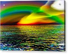 Rainbow Thunder      Enhanced Version Acrylic Print by Rebecca Phillips