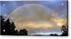 Rainbow Acrylic Print by Tony Cordoza