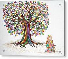 Rainbow Tree Dreams Acrylic Print by Nick Gustafson