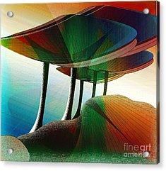 Rainbow Trees Acrylic Print