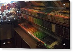 Rainbow Vintage Jelly Bean Shop Acrylic Print