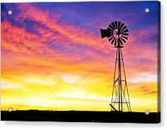 Rainbow Windmill Acrylic Print by Shirley Heier
