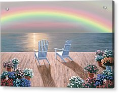 Rainbow Wishes Acrylic Print