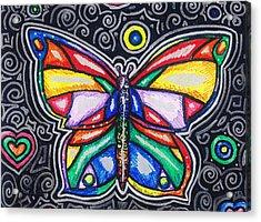 Rainbows And Butterflies Acrylic Print by Shana Rowe Jackson