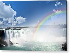 Rainbows At Niagara Falls Acrylic Print by Elena Elisseeva