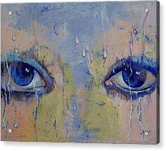 Raindrops Acrylic Print by Michael Creese