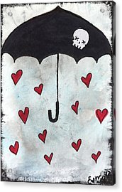 Raindrops Of Love Acrylic Print by Oddball Art Co by Lizzy Love