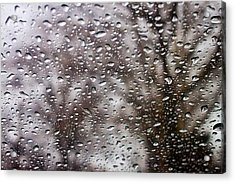Raindrops Acrylic Print by Richie Stewart