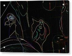 Rainforest Cafe Balloon In Neon Acrylic Print