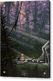 Rainforest Mysteries Acrylic Print by Jack Malloch