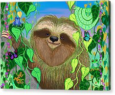 Rainforest Sloth Acrylic Print