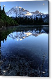 Rainier Redefined Acrylic Print by Peter Mooyman
