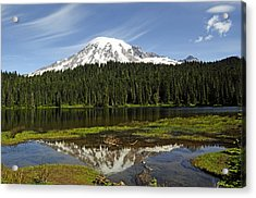 Acrylic Print featuring the photograph Rainier's Reflection by Tikvah's Hope
