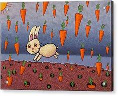 Raining Carrots Acrylic Print