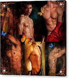 Raining Man Acrylic Print by Mark Ashkenazi
