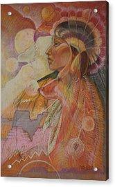 Rainsong Acrylic Print by Pamela Mccabe