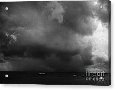Rainstorm Thunderstorm Storm Clouds Approaching Key West Florida Usa Acrylic Print by Joe Fox