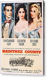 Raintree County, Us Poster, From Left Acrylic Print