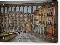 Rainy Afternoon In Segovia Acrylic Print