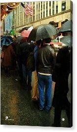 Rainy Afternoon On Broadway Acrylic Print