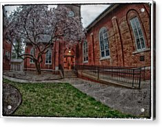 Rainy Church Acrylic Print by Kimberleigh Ladd
