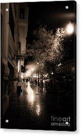 Rainy City Streets  Acrylic Print