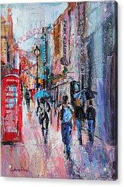 Rainy Day  Carnaby Street Acrylic Print