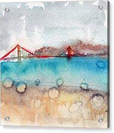 Rainy Day In San Francisco  Acrylic Print