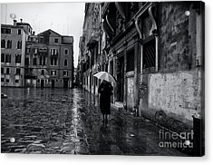 Rainy Day In Venice Acrylic Print by Design Remix