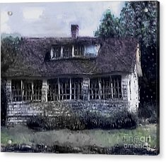 Rainy Day Long Ago House Acrylic Print by RC deWinter