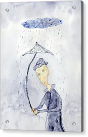Rainy Day Man Acrylic Print