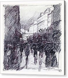 Rainy Day Paris Acrylic Print by J Reifsnyder