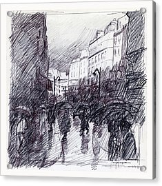 Rainy Day Paris Acrylic Print