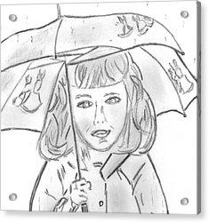 Rainy Day Smile Acrylic Print by Elizabeth Briggs