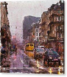 Rainy Day Traffic Acrylic Print by Marian Voicu