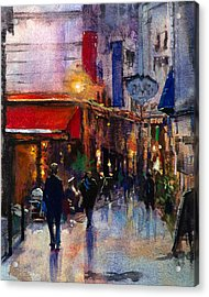 Rainy Evening Acrylic Print by Carlos Herrera