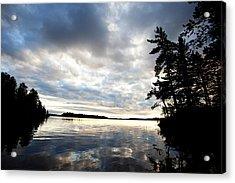 Rainy Lake Bay Acrylic Print