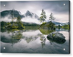 Rainy Morning At Hintersee (bavaria) Acrylic Print by Dirk Wiemer